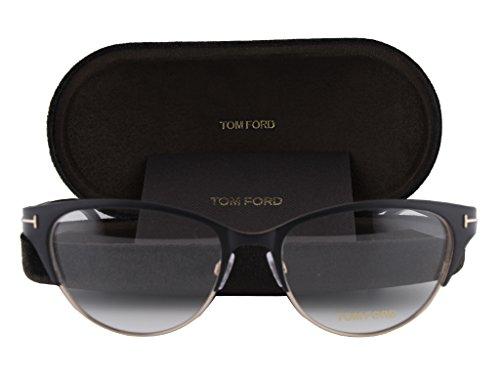 Tom Ford FT5318 Eyeglasses 53-17-135 Matte Black Gold 002 FT - Angelina Ford Sunglasses Tom