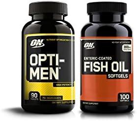 OPTIMUM NUTRITION Opti-Men High Potency Multi-Vitamin 90 Count Fish Oil 100 Count Soft gels