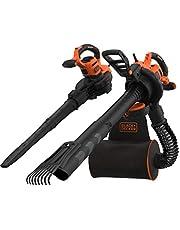 Black+Decker BEBLV301 Elektrische bladzuiger, 3-in-1, 3.000 watt, met hakselaar + opsteekbare bladbreker, 72 l opvangzak rugzak, hoge blaassnelheid en verstelbaar zuigvermogen)