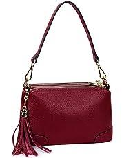Gywon Crossbody Bag for Women Fashion Leather Shoulder Bags Trendy Ladies Handbag Purse Phone Clutch Triple Zipper Pockets