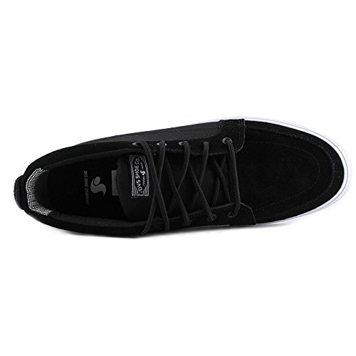 Mens DVS Rivera Crazyhorse Leather Shoe Black ixcTsWF6MX