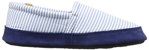 Women's Blue Slipper Summerweight Stripe Moc Acorn BU6q0Fd