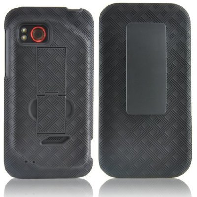 EXTENDED BATTERY SHELL HOLSTER COMBO CASE+KICK STAND for VZW HTC REZOUND 4G