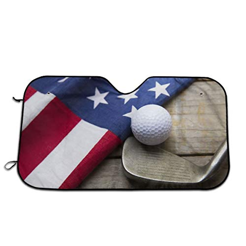 America Flag and Golf Ball Sun Shield Summer