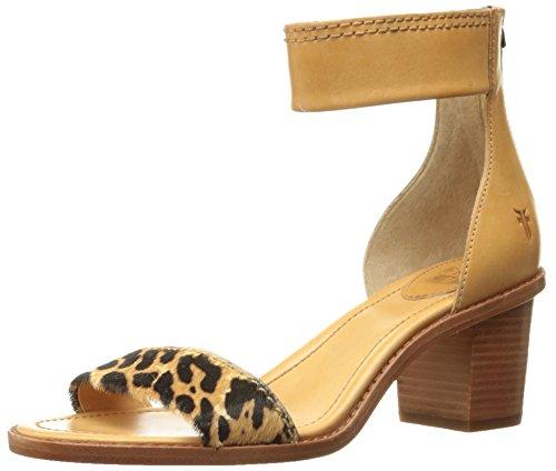 Frye Mujer Sandalias Zip de Sandal Leopard vestir Brielle Back 73603 n4pnrxFP