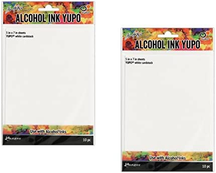 RANGER RGRTAC.49715 RGRTAC 49715 THOLTZ ALCOHOL INK YUPO PAPER 5X7 WHITE