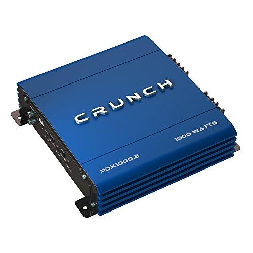 Crunch PowerDriveX 1000W 2 Channel Blue A/B Car Amplifier + 4-Gauge Wiring Kit by Crunch (Image #1)