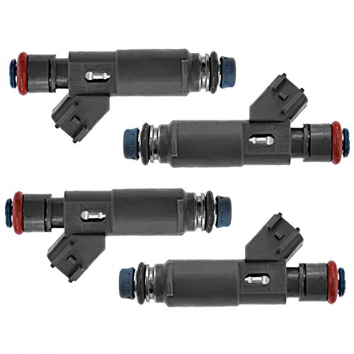 (Fuel Injectors 4-hole Upgrade 53030778 Injectors for Jeep Wrangler TJ 1997-2002 2.5L, Pack of 4)
