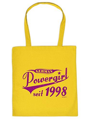 Powergirl Tote Bag Henkeltasche Beutel mit Aufdruck Tragetasche Must-have Stofftasche Geschenkidee Fun Einkaufstasc