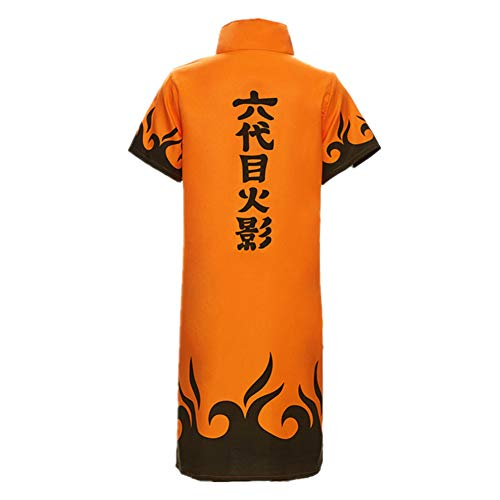 - Naruto 4th 6th Hokage Cosplay Costume Japanese Anime Namikaze Minato Halloween Uniform Cloak Orange