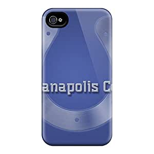 Excellent Hard Phone Cover For Iphone 4/4s With Unique Design Vivid Indianapolis Colts Skin AaronBlanchette