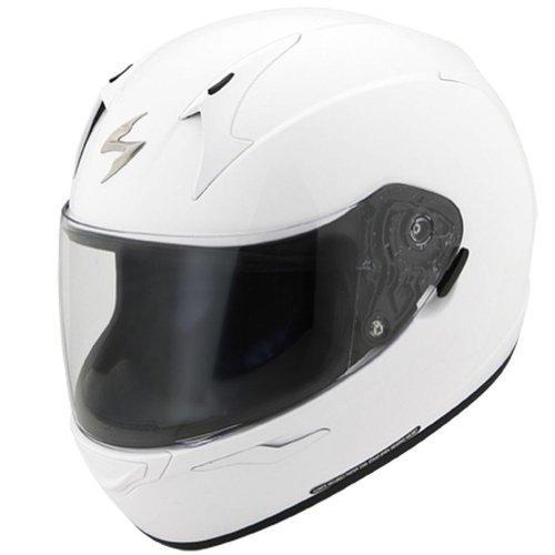 Scorpion EXO-R410 Solid White Full Face Helmet - X-Large