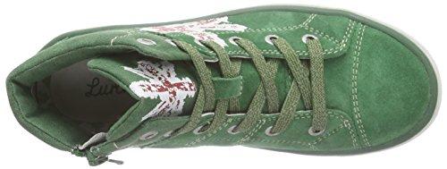 Lurchi Spike - zapatillas deportivas altas de cuero niño Grün (dark green 46)