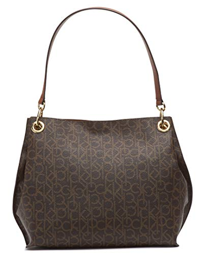 Calvin Klein Raya Signature Hobo, BROWN/KHAKI/LUGGAGE