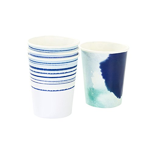 Talking Tables Coastal Cup (12 Pack), 9 oz, Multicolor]()