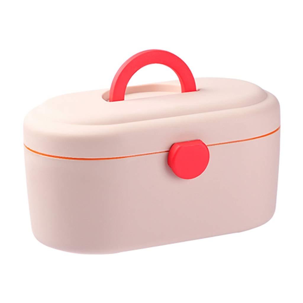 プルロッドタイプ箱から出して応急処置箱医師手術マイクロツールボックス多機能ポータブル HUXIUPING (Color : Pink)  Pink B07TPGWZ11