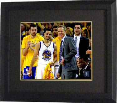 05b9900e6 Steve Kerr signed Golden State Warriors 8x10 Photo Custom Framed (Coach  with Stephen Curry)