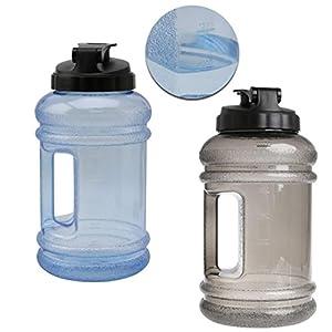 Sinwo 2.2L ! Big Large BPA Free Sport Gym Training Water Bottle Cap Kettle Workout (Blue)