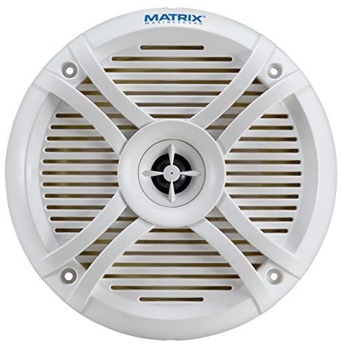 "Matrix MRX65 6.5"" 2-Way Marine Speaker System 220W MAX w/ 2-Way Attachable Grille Design"