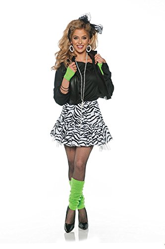 Rockin' the 80's Valley Girl Costume in 5 pieces. 3 colors - S to XL