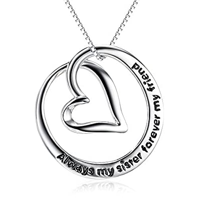 Sister NecklacesAlways My Forever Friend 925 Sterling Silver Infinity Love Pendant Necklace Jewellery Birthday Gift 20 Inch Necklaces