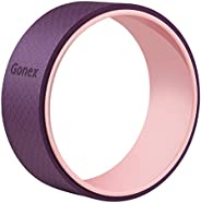 Gonex Yoga Wheel, 13 Inch for Back Pain Stretching with 10mm Thicken External Pad, Sturdy Back Roller Stretche