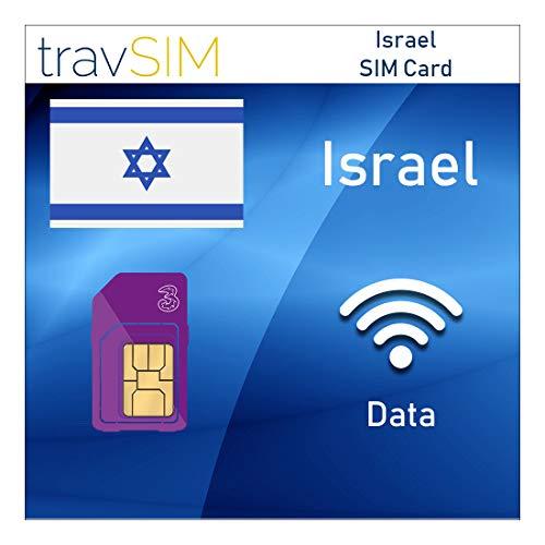 travSIM Three UK Prepaid Israel SIM Card 5GB Data Valid For 30 Days - Free Roaming In 71+ Destination Countries Including Europe
