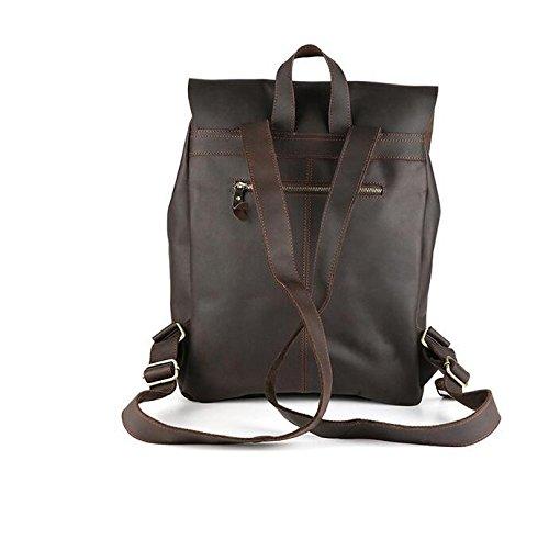 DJB/ Bandoleras hombre hombres bolso cuero tendencias europeas y americanas mochilas bolsos de hombre de cuero: Amazon.es: Deportes y aire libre
