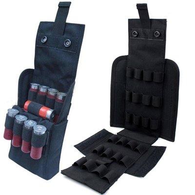 HOT 25 Round Shotgun Shotshell Reload Holder Molle Pouch For 12 Gauge/20G (Black)