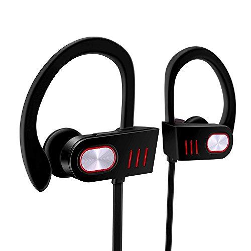 Weirdbeast Wireless Bluetooth Headphones Waterproof Sports Earphones with Mic In-Ear Runner Headset Lightweight HD Stereo Sweatproof Earbuds for Gym Running Workout Noise Cancelling Cordless Headset
