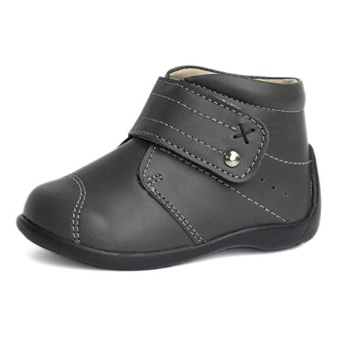 FIRST STEPS - MARTIN | Wobbly Waddlers | Gray Leather Boots | Baby boy, Toddler boy boots | Walkers Support | Size 4 Toddler