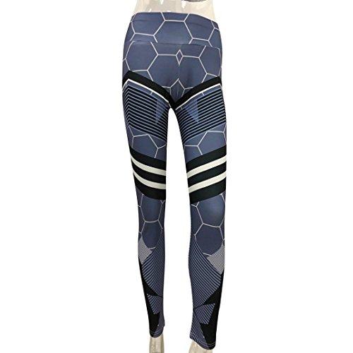 Basique SANFASHION Noir Taille de Yoga Femme Haute Chic Habit Fitness de Sport Mode Amincissant Legging Pantalons ZxFqIXw66