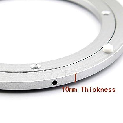 T /& B 35,6/cm diametro alluminio metallo cuscinetti Lazy Susan Hardware piatto rotante girevole 350/millimetri argento girevole su dining-table
