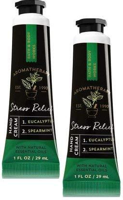 Bath and Body Works 2 Pack Aromatherapy Stress Relief Eucalyptus Spearmint Hand Cream. 1 oz