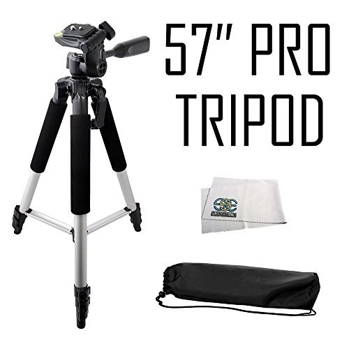 Professional 57-inch Tripod 3-way Panhead Tilt Motion with B