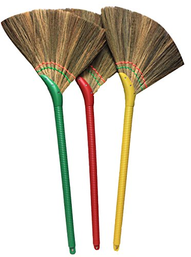 Choi Bong Co Vietnam Hand Made Straw Soft Broom with Plastic Handle 12 Head Width, 40 Overall Length -1pc