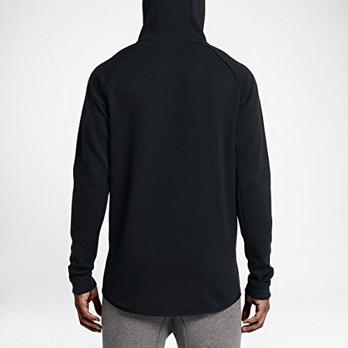 Nike M Nsw Tch Flc Wr Hoodie Fz Sudadera, Hombre BLACK/BLACK/BLACK