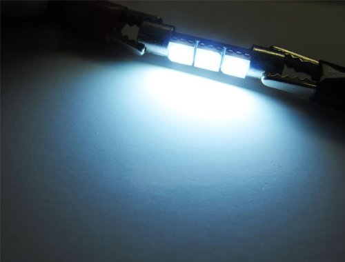 iJDMTOY 3-SMD 29mm 6614F LED Bulbs For Car Sun Visor Vanity Mirror Lights, Xenon White, Desertcart