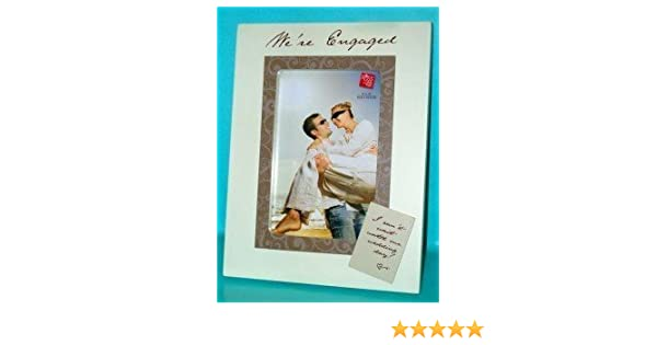 Amazoncom Were Engaged Wooden Photo Frame 4 X 6 Engagement