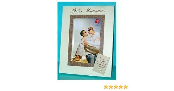 Amazoncom Were Engaged Wooden Photo Frame 4 X 6 Engagement