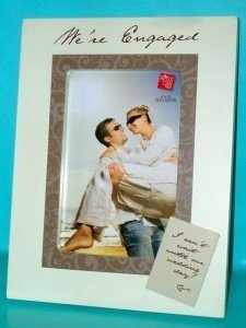 were engaged wooden photo frame 4 x 6 engagement gift - Engagement Picture Frames
