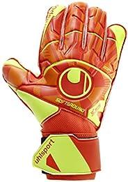 Luva De Goleiro Uhlsport Dynamic Impulse Soft Pro, Laranja e Amarelo