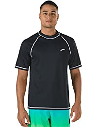 Men's UPF 50+ Easy Short Sleeve Rashguard Swim Tee