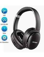 Noise Cancelling Kopfhörer (ANC), Mpow H10 Bluetooth Kopfhörer Over Ear mit Verbesserte Dual-Mic-ANC-Technologie, 30 Stunden Spielzeit, CSR-Chip, Faltbar für Reise, Arbeit, Schwarz