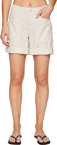 The North Face Women's Horizon 2.0 Roll-Up Shorts Desert Shale Tan Heather - Shales Face