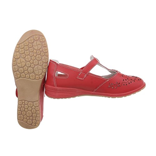 Shoes Court Women's at Ital Wedges 5012 Design Heel Wedge Rot 6wUqx1H