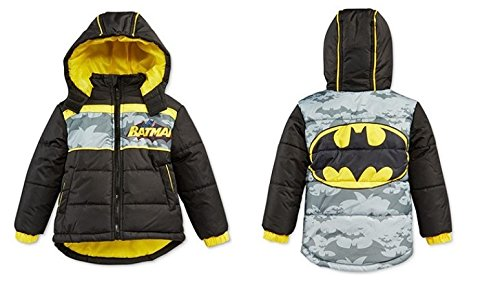 bbe80cb63 Warner Bros Batman Puffer (Toddler) - Black-3T - Import It All