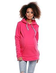Zeta Ville - Womens Maternity Nursing Hooded Sweatshirt - Zip Cut-outs - 356c