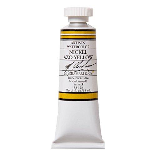 M. Graham 1/2-Ounce Tube Watercolor Paint, Nickel Azo Yellow