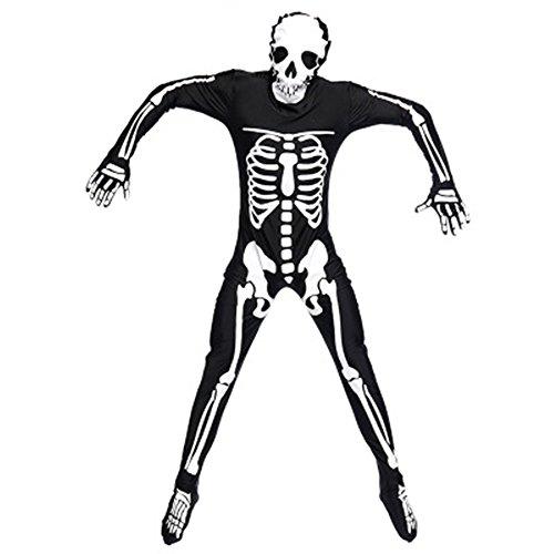 Bingo Halloween Lady Costume (MV Women Adult Male Skeleton Skeleton Ghost Suit Piecemeal Clothing Holy Bingo Party Makeup Dress)